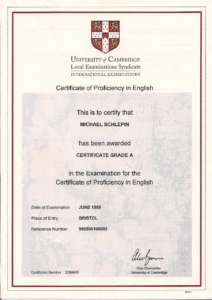 Сертификат по английскому языку CPE фото